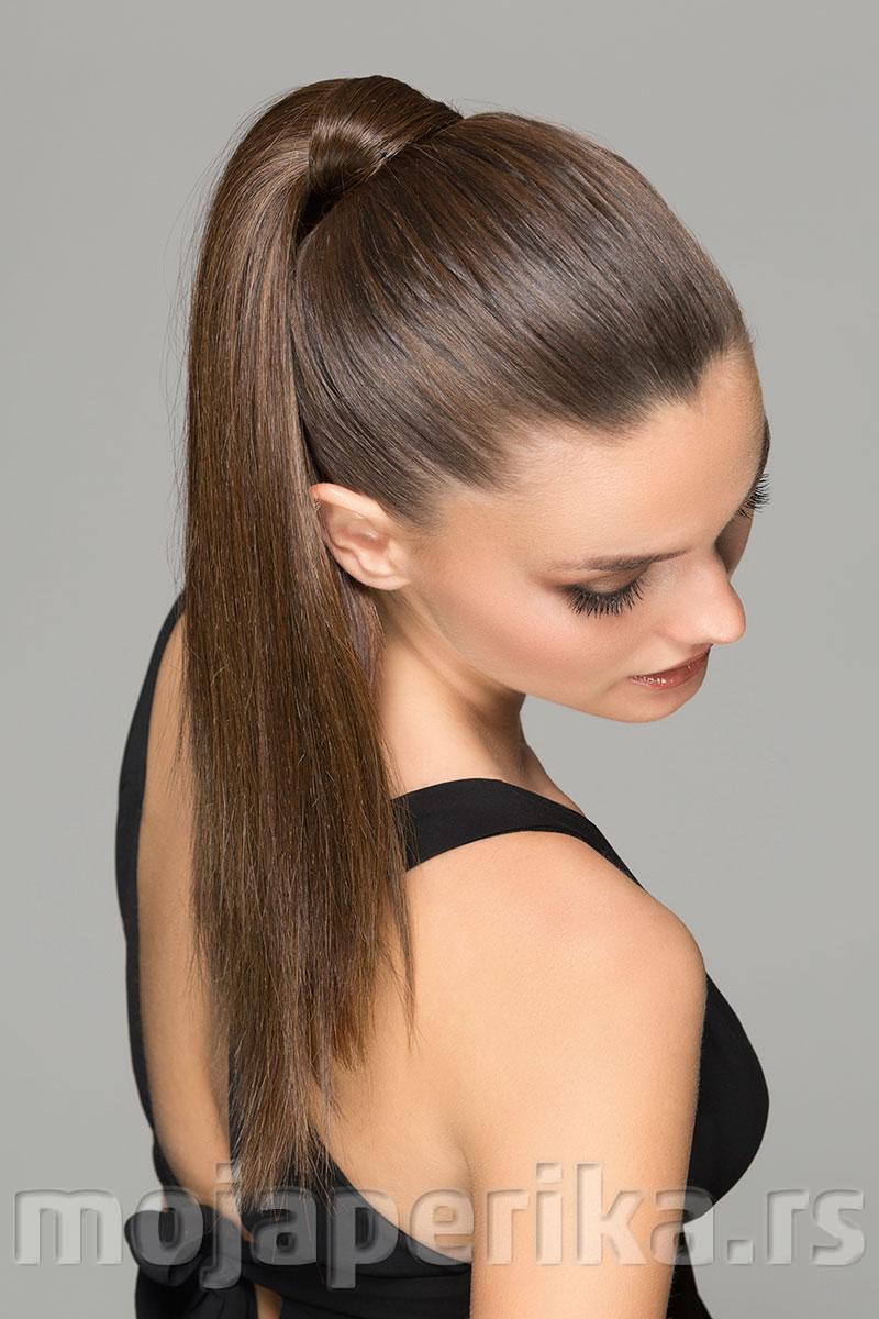 Umetak za kosu rep - Aqua